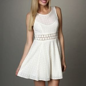Free People Fitted With Daisies Cutout Dress